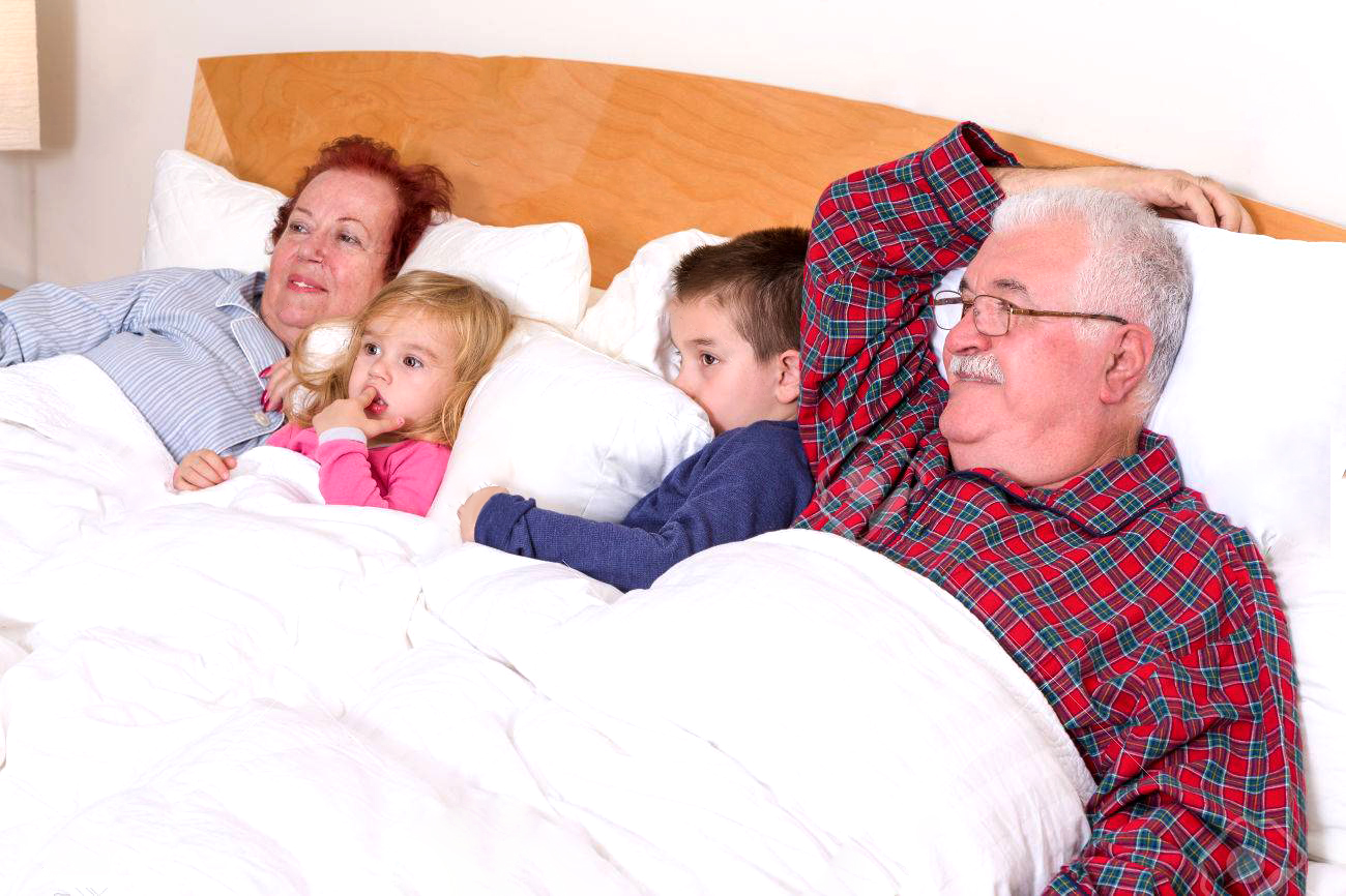 Sleeping with their grandparents