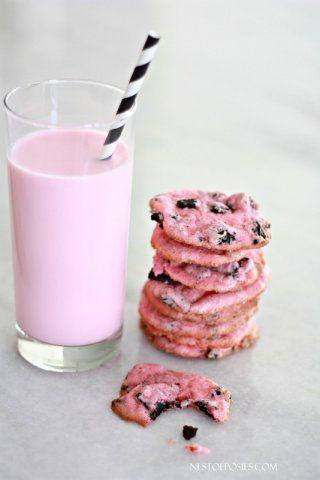 Pink Oreo cheesecake cookies